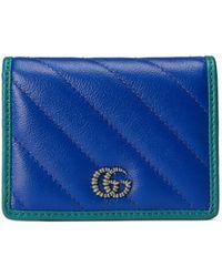 Gucci Cartera GG Marmont - Azul