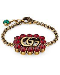 Gucci Pulsera con Doble G de cristal - Multicolor