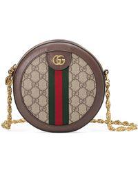 Gucci Minibolso de Hombro Ophidia Redondo GG - Neutro