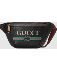 Gucci グッチ プリント スモール ベルトバッグ - ブラック