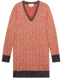 Gucci - Pull oversize en maille intarsia - Lyst