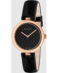 Gucci - 【公式】 (グッチ)〔ディアマンティッシマ〕ミディアム ウォッチ(32mm)ブラックレザーundefined - Lyst