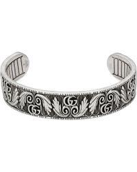 Gucci - Doppel G Armband mit Blatt-Motiv - Lyst