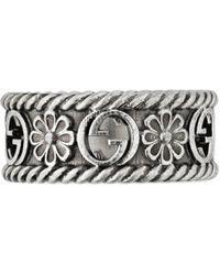 Gucci Anello GG - Metallizzato