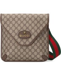 Gucci Mittelgroße Neo Umhängetasche mit Vintage GG - Natur