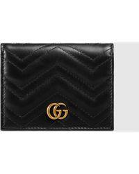 Gucci GG Marmont Kartenetui - Schwarz