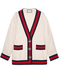 Gucci - Oversize Tweed Cardigan Jacket - Lyst