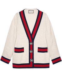 Gucci - Veste cardigan oversize en tweed - Lyst