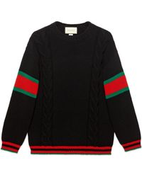 Gucci Pull en maille torsadée - Noir