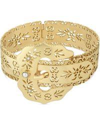 Gucci Icon Bracelet In Yellow Gold - Metallic