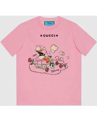 Gucci 【公式】 (グッチ)disney(ディズニー)x ドナルドダック Tシャツピンクピンク