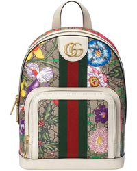 Gucci Ophidia GG Flora Small Backpack - Natural