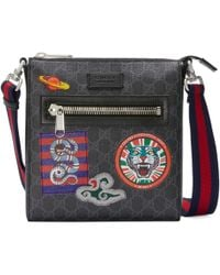 Gucci - Bolso Cruzado GG Supreme Night Courrier - Lyst