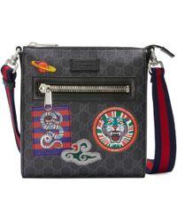 5970fe1969 Gucci - Sac à bandoulière en toile Suprême GG à motifs Night Courrier - Lyst