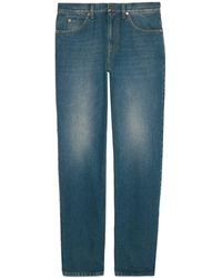 Gucci Regular Fit Washed Jeans - Blue