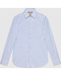 Gucci グッチGGストライプ フィルクーペ テーラードシャツ - マルチカラー