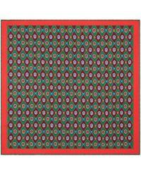Gucci - Carré de soie à imprimé bijou géométrique - Lyst