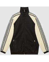 Gucci - 【公式】 (グッチ)オーバーサイズ テクニカルジャージー ジャケットブラック/ホワイト テクニカルジャージーブラック - Lyst