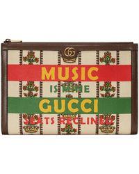 Gucci 100 pouch - Weiß