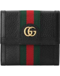 Gucci Ophidia French Flap Wallet - Black