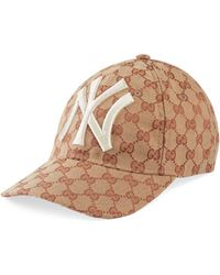 ed05d661202 Gucci - Baseball Hat With Ny Yankeestm Patch - Lyst