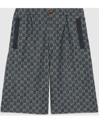 Gucci Shorts aus Denim mit ökologischer Waschung und GG - Blau