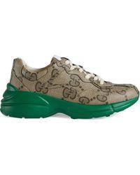 Gucci 100 rhyton herrensneaker - Natur