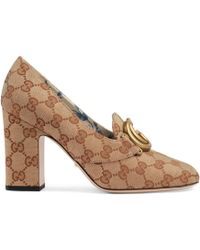 Gucci - GG Mid-heel Pump With Double G - Lyst