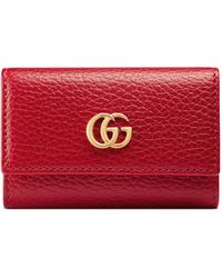 Gucci Leather Key Case - Red
