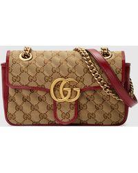 Gucci グッチ公式〔GGマーモント〕ミニ バッグオリジナル GGキャンバス/レッドcolor_descriptionGGキャンバス - マルチカラー