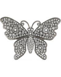 Gucci Spilla a forma di farfalla con cristalli - Blu