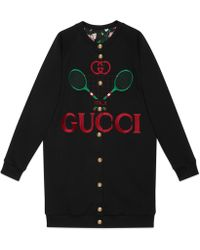 0e40274f Gucci - Reversible Oversize Cardigan Sweatshirt - Lyst