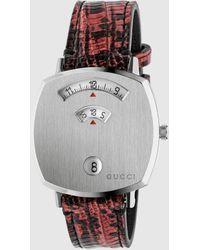 Gucci Grip Armband aus Leder mit Teju-Print, 35 mm - Mehrfarbig