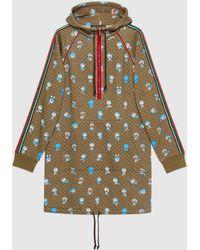 Gucci 【公式】 (グッチ)ドラえもん X コットン ドレス Detail 2ベージュ&エボニーブラウン - マルチカラー
