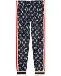 buy popular 29762 f4d44 Pantalone da jogging con motivo GG jacquard - Blu
