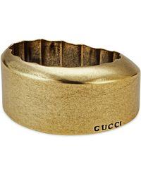 Gucci - Round Metal Effect Resin Bracelet - Lyst