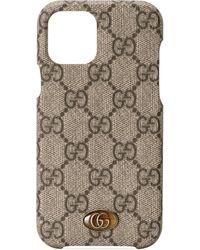 Gucci Funda Ophidia para iPhone 12/12 Pro - Neutro