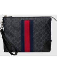 Gucci Herrentasche aus GG Supreme - Schwarz