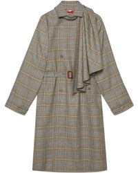 Gucci - Cappotto in lana con sciarpa staccabile - Lyst