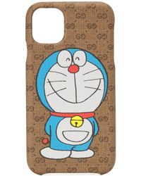 Gucci Custodia per iPhone 11 Doraemon x - Neutro