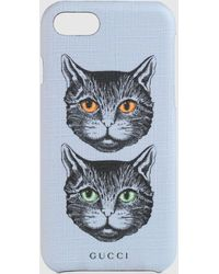Gucci IPhone 8-Etui mit Mystic Cat - Lila