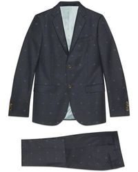 Gucci - Monaco Bees And Hearts Wool Suit - Lyst