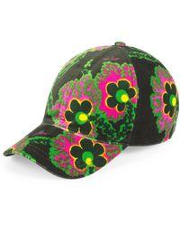 Gucci Ken Scott Print Canvas Baseball Hat - Black