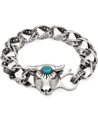 Gucci - Anger Forest Bull's Head Bracelet In Silver - Lyst