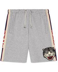 Gucci Stripe Cotton Shorts - Gray