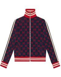 Gucci - GG Jacquard Cotton Jacket - Lyst