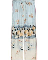 Gucci Online Exclusive Pond Print Pyjama Pants - Blue