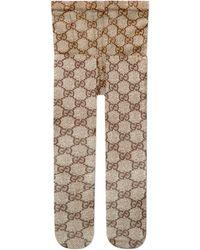 Gucci GG Pattern Tights - Natural