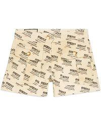 Gucci - Stamp Denim Shorts - Lyst