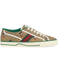 Gucci Disney X Tennis 1977 Sneaker With Web - Natural